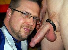 Gay Mature Sucking Cock